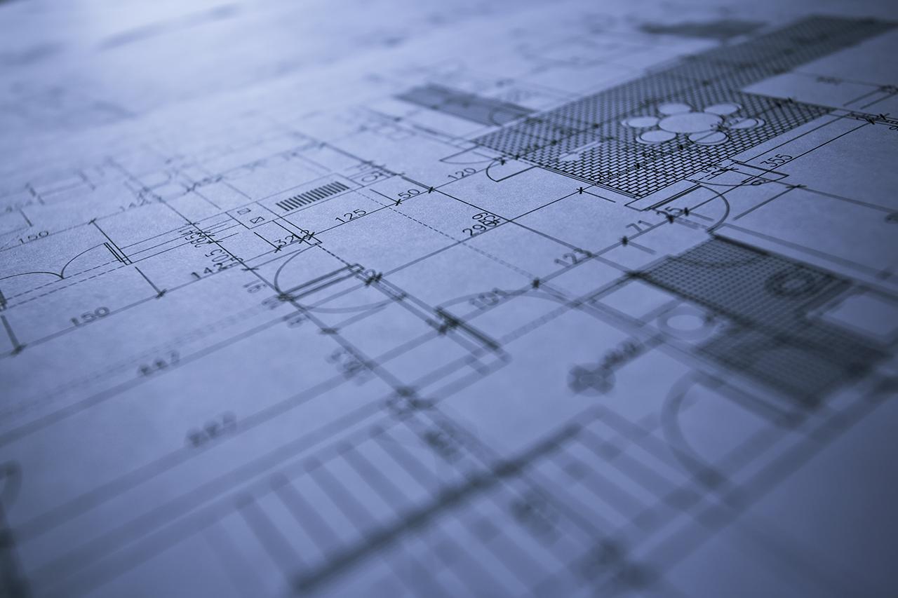 Blueprint of an family house